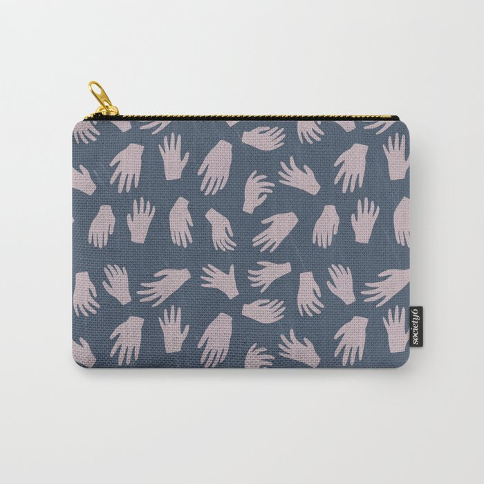 Hands Pattern Carry-All Pouch