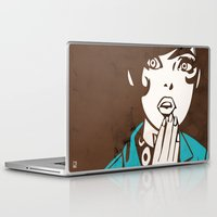 60s Laptop & iPad Skins featuring 60s Girl by Ed Pires