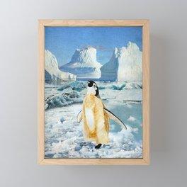 Penguin Chick In The Arctic Framed Mini Art Print