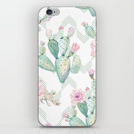 Cactus Chevron Southwestern Watercolor iPhone Skin