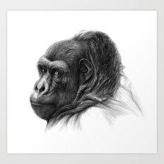 Gorilla G038b schukina Art Print