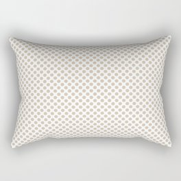 Frosted Almond Polka Dots Rectangular Pillow