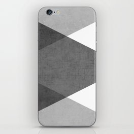 black and white triangles iPhone Skin
