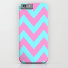 PINK & TEAL CHEVRON  Slim Case iPhone 6s