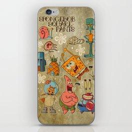 Sailor Jerry Spongebob Tattoo Sheet iPhone Skin