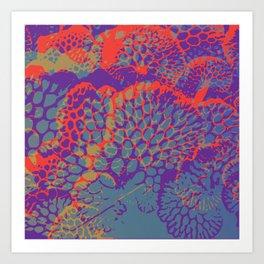 psychedelic beauty Art Print