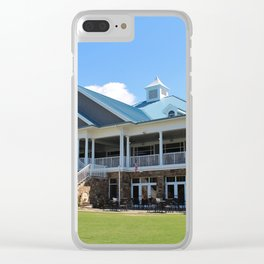 Sports Club Building Clear iPhone Case