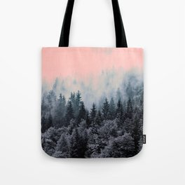 Forest in gray and pink Tote Bag