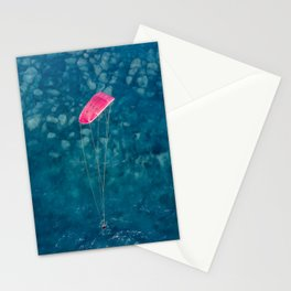 Kite surfer in Lefkada, Greece Stationery Cards