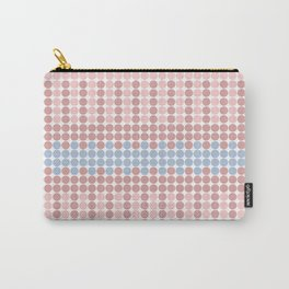 Blush Pink and Millennial Pink Polka Dots Pattern Carry-All Pouch