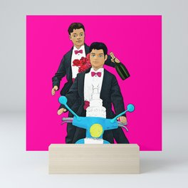 Just Married! Cool Gay Marriage Design! Queer Art! Mini Art Print