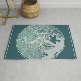 Boston Map Planet Rug