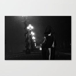 Ever Dance with the Devil in the Pale Moon Light? Canvas Print