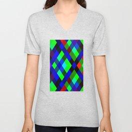 Checkered Colour - Geometric, Colour, Checkered Pattern Unisex V-Neck