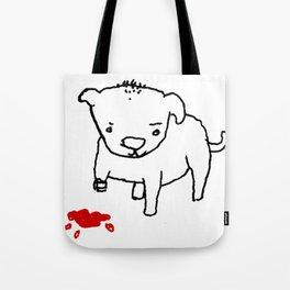 poor dog Tote Bag