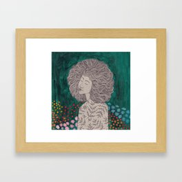In the garden of my dreams Framed Art Print