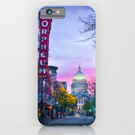 Madison Capital Sunrise with the New Orpheum iPhone Case
