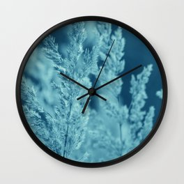Green reed Wall Clock
