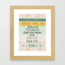 """Always Remember"" Framed Art Print"