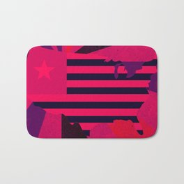 Love stops Hate 1 - USA in Pink 2017 Bath Mat