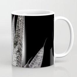 Gray snake plant with black Coffee Mug