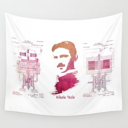 Nikola Tesla - Apparatus for aerial transportation Wall Tapestry