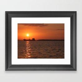 Sunset in Cuba Framed Art Print