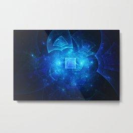 Blue Square Universe Metal Print