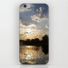 Water Fountain Sunset iPhone Skin