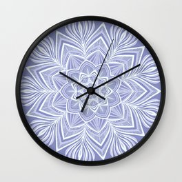 Violet Bloom Crown Chakra Wall Clock