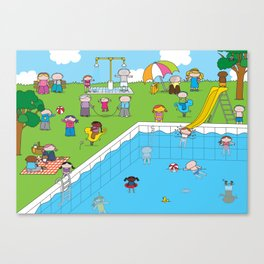 Pool XL Canvas Print
