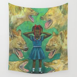 """""""Little Girls Cannot Fly"""" they said Wall Tapestry"""