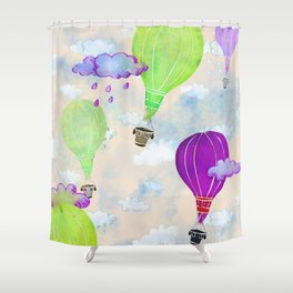 Go Where The Wind Blows Shower Curtain