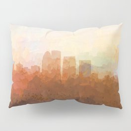 Louisville, Kentucky Skyline - In the Clouds Pillow Sham