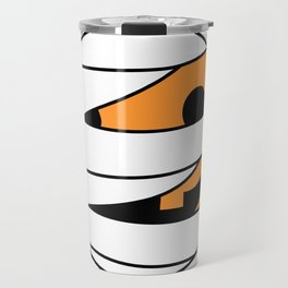 Pumpkin Mummy Face Travel Mug