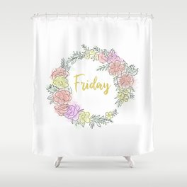 Friday fresh collection golden Shower Curtain