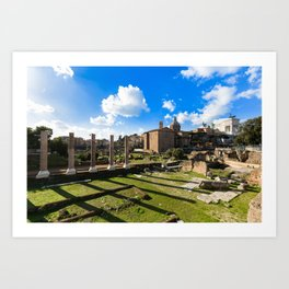 Imperial fora - Rome - Italy Art Print