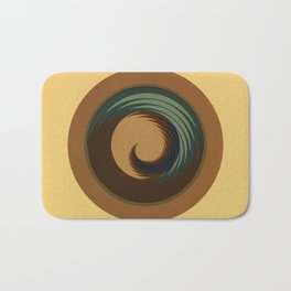 Circular Sophisticated Motion Bath Mat