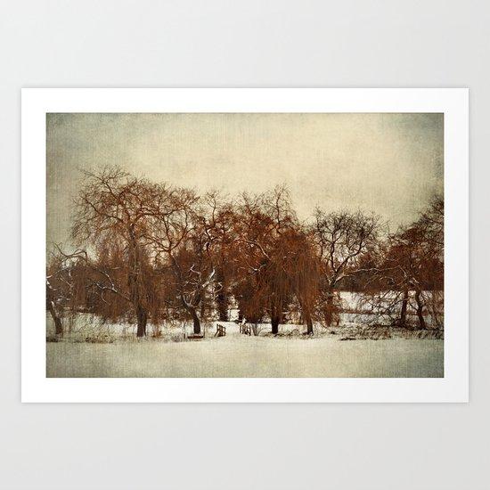 Winter Red Art Print