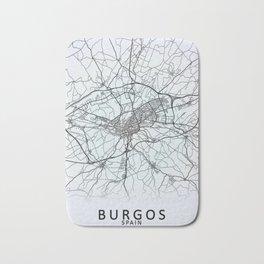 Burgos, Spain, White, City, Map Bath Mat
