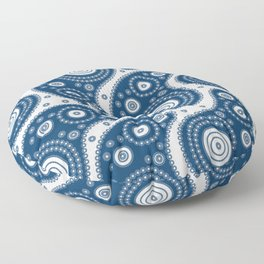 Blue Paisley Pattern Floor Pillow