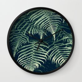 Fern is the warmest color (Jade green tropical / jungle artwork) Wall Clock