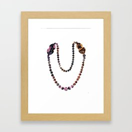 Pearl Necklace Framed Art Print