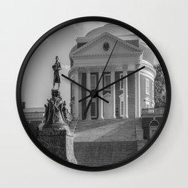 Charlottesville Virginia Campus Black White Print Wall Clock