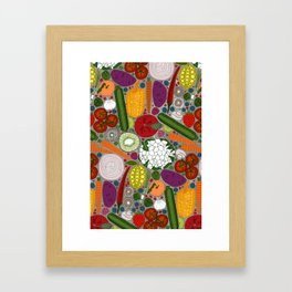 the good stuff taupe Framed Art Print