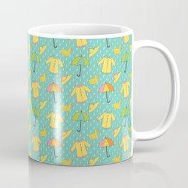 April Showers - Spring Rain Pattern Coffee Mug