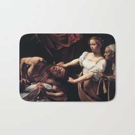 JUDITH BEHEADING HOLOFERNES - CARAVAGGIO  Bath Mat