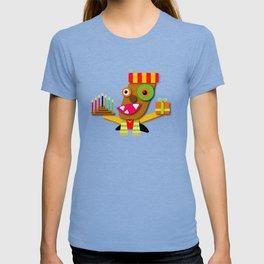 Red and Yellow Kwanzaa Kawaii Cartoon T-shirt