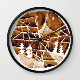 the mountain and the spider Wall Clock