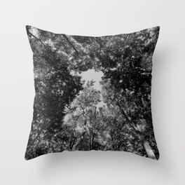 up to the abyss Throw Pillow